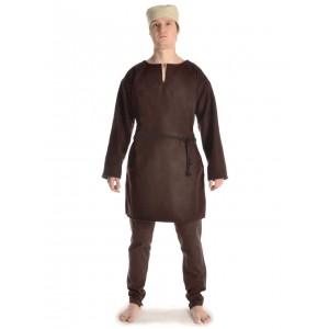 Medieval Medium Tunic with V-shaped collar felt