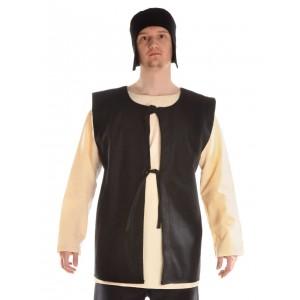 Medieval doublet felt brown open