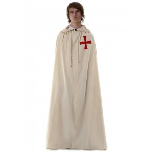 Medieval Cloak with red cross