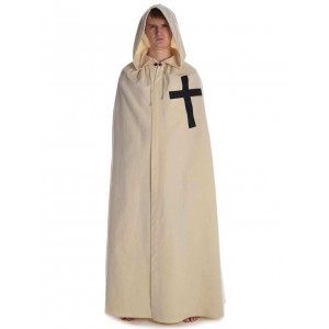 Medieval Cloak with black cross