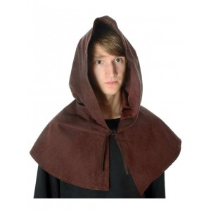 Medieval hood with open front