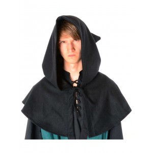 Medieval Hood felt with open front