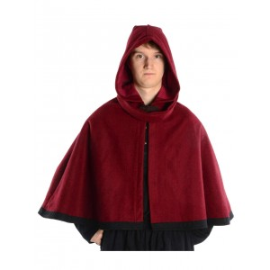 Medieval Hood with Liripipe and medieum cape Felt