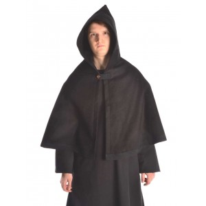Medieval Hood with Medium Cape - Felt