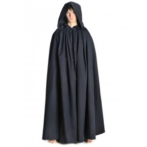 Medieval Cloak with hood wide