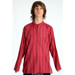 Kurta Shirt red striped