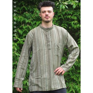 Kurta Shirt green striped