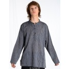 Kurta Shirt blue-white striped